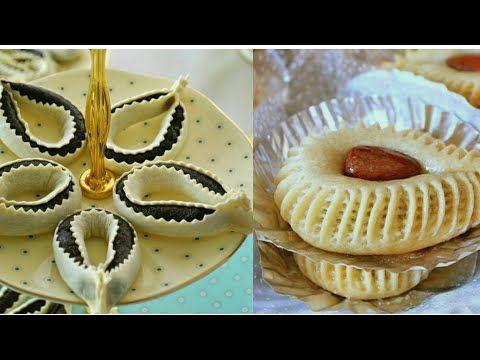 حلويات منقوشة حلوة الوردة اقتصادية و سريعة في عشرة دقائق Sweet Pastries Are Quick Youtube Eid Sweets Sweet Pastries Pastry