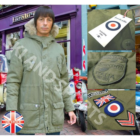 Details about Lambretta Parka Jacket Mens Mod Scooter Carnaby
