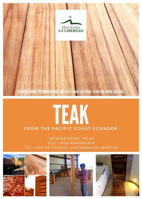 First Class Teak Wood From Ecuador For Decks Floors Furniture Building And Yachts Http Www Novascala De Representations Products Teak Wood Teak Wood