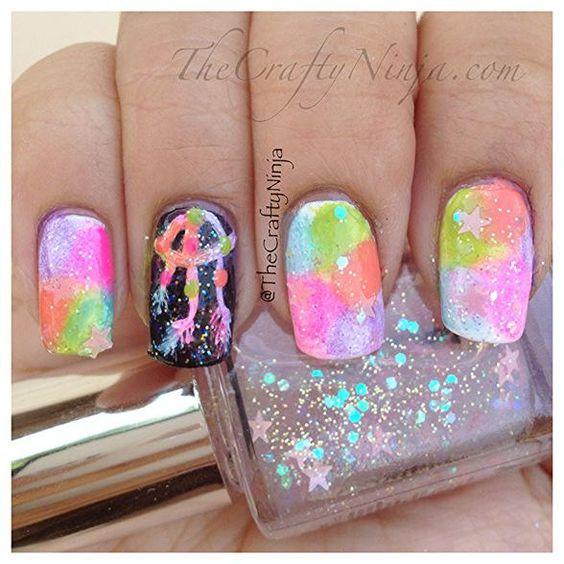 DIY Nails Art : DIY Dream Catcher Rainbow Nails