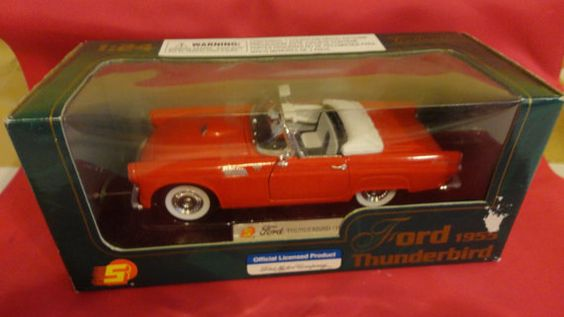 Vintage Red Ford 1955 Thunderbird 1 24 Scale Die by tennesseehills, $12.00