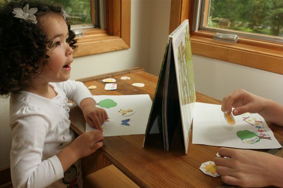 ¡Igualitos! – Play Barrier Games to Speak Spanish with Kids {Printable Activity} would be good for prepositions..
