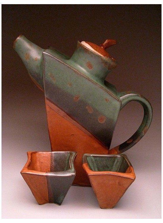 Slab Teapot Kyounghwa Oh Slab Teapot Set Slab Ceramics Ceramic Teapots Pottery Tea Pots