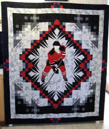 Theme And Pictorial Quilts Photo Gallery Quilt Hockey