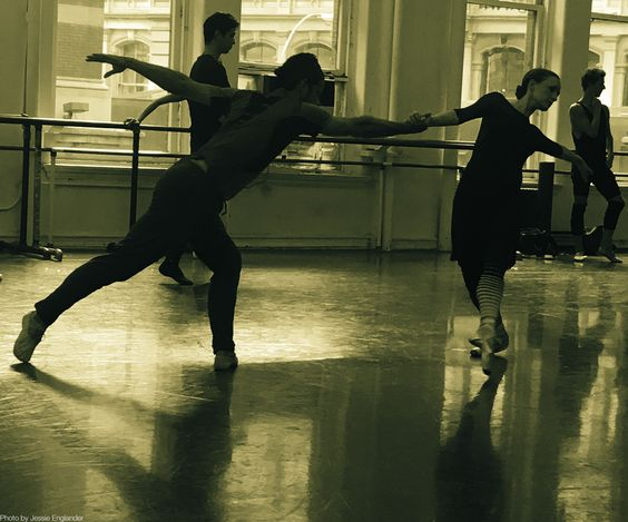 Principal Dancers, Marcelo Gomes and Gillian Murphy, rehearsing Jessica Lang's World Premiere, Her Notes.