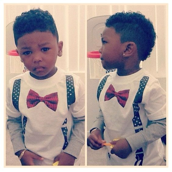 Coupes de gar on cheveux noirs and coiffures on pinterest - Coupe afro garcon ...