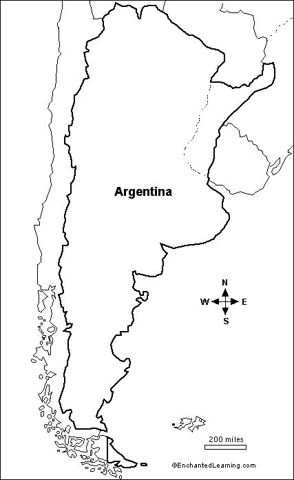 Argentina map coloring page Travel