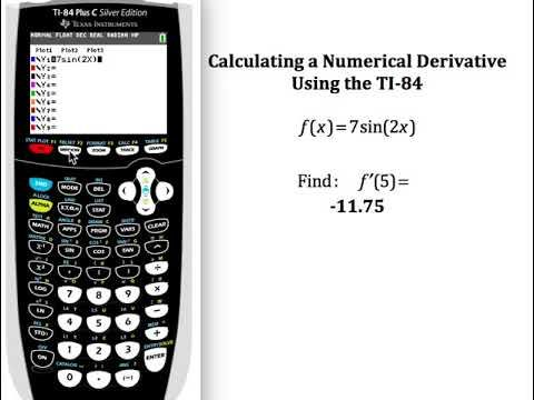 Using Nderiv With Y Vars On A Ti 84 Graphing Calculator Calculus Graphing Calculator Calculus Calculator