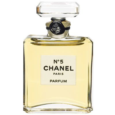 Chanel No 5 ...the most sophisticated timeless luxorious beautiful scent known to mankind! And my mommy wore it all the time hee hee. I love this scent to infinity!