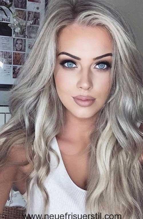 Platin Blonde Lange Haare Farbe Haarfarben Ideen