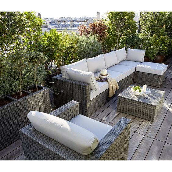 Salon de jardin effet r sine tress e collection sulana 2 castorama home - Salon de jardin sophie ...
