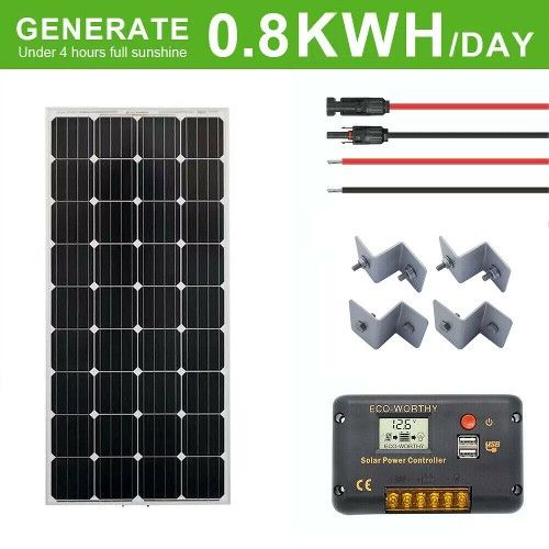 30 Off 132 5 160w Watt 12v Monocrystalline Solar Panel Kit 12 Volt Battery Charge For Rv Home In 2020 Solar Panel Kits Monocrystalline Solar Panels Solar Panels