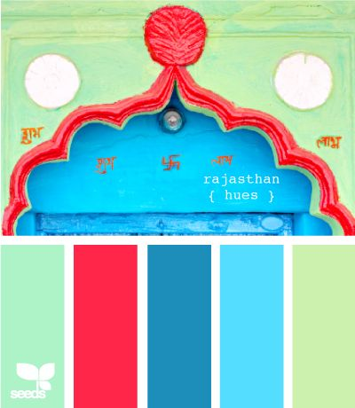 Love those blues with the bright pink! rajasthani hues