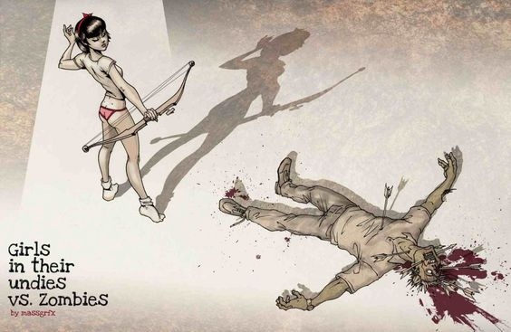 babes_vs_zombies___archery_by_massgrfx-d48ccuz