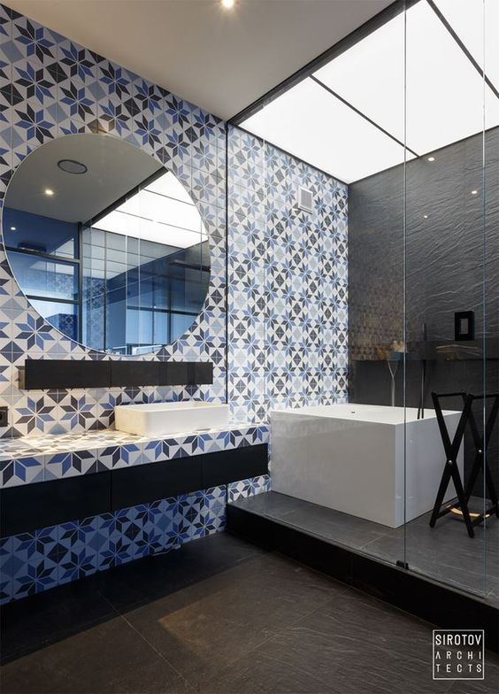 Une salle de bains originale et bien décorée ! http://www.m ...