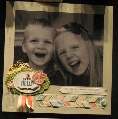 Oh, Hello Stampin' Up! Scrapbook Layout