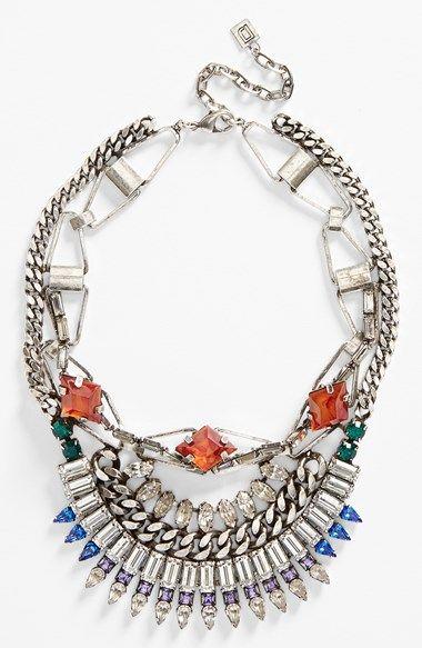 DANNIJO 'Yasmina' Oxidized Silver, Swarovski Crystal & Italian Amber Necklace available at #Nordstrom