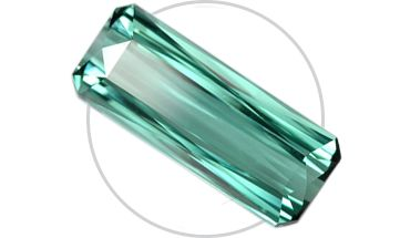 """Tourmaline, This distinctive gemstone contains a wide abundance of colorations. Many fine jewelry pieces combine multiple hues of tourmaline together for a rich, dramatic impact. One popular variation is the """"watermelon tourmaline,"""" which is green on the outside and pink on the inside."""