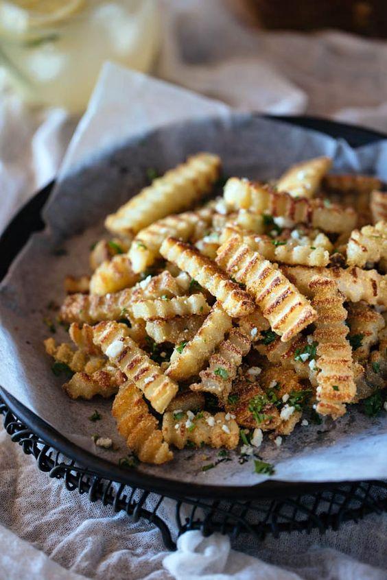 Oven-Baked Crispy Truffled Fries: