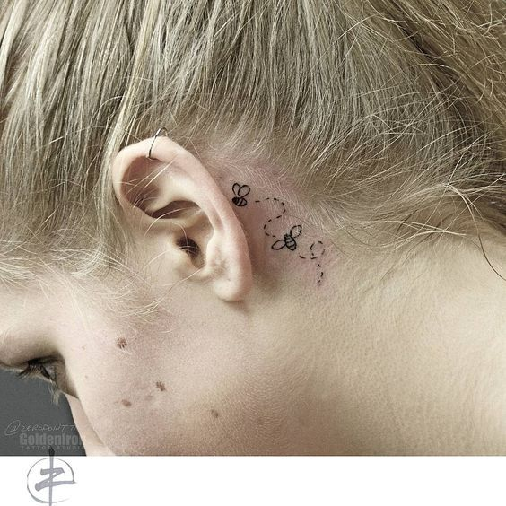 70 Best Behind The Ear Tattoos For Women Behind Ear Tattoos Ear Tattoo Tattoos