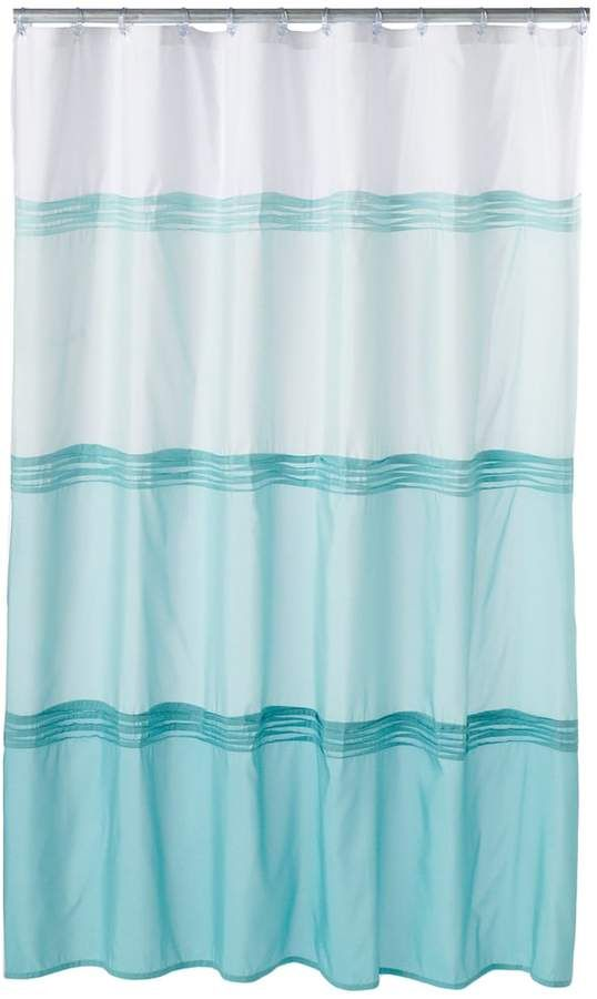 Park B Smith Pintuck Shower Curtain Grey Striped Shower
