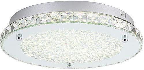 Auffel Modern Minimalist Led Ceiling Light K9 Crystal Glass Metal
