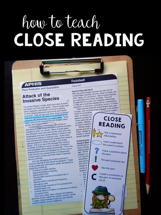 What is close reading, anyway? This post shares exactly what it it is, with a free printable close reading bookmark and poster - plus a detailed lesson and link to free curriculum!
