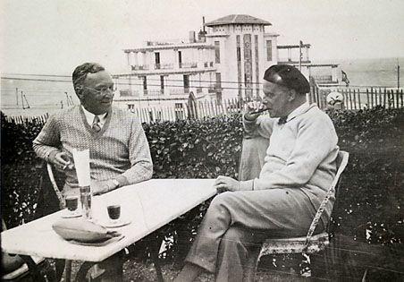 chagalov:  Wassily Kandinsky and Paul Klee, Guétary (France), 1929 -nd [+] via CP