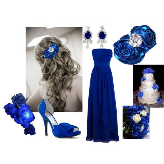 Royal Blue Wedding, created by tweeterj on Polyvore