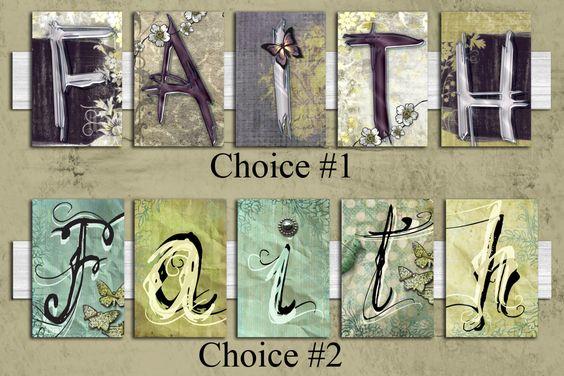 Faith Wall Art - gift, letter, wedding, birthday, for him, for her