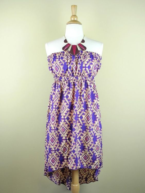 Purple and Orange High Low Strapless Dress - $35.00 : FashionCupcake, Designer Clothing, Accessories, and Gifts