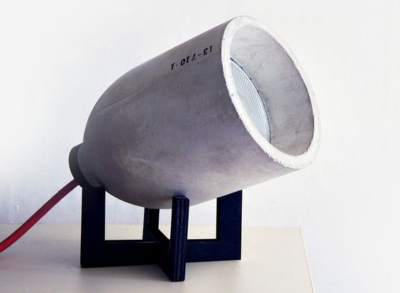 Luminária com cúpula de concreto   arktalk