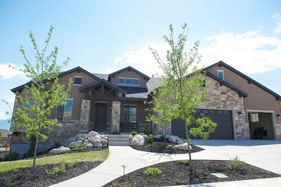 Grand Junction - A Mountain Rustic style rambler house plan - Walker Home Design