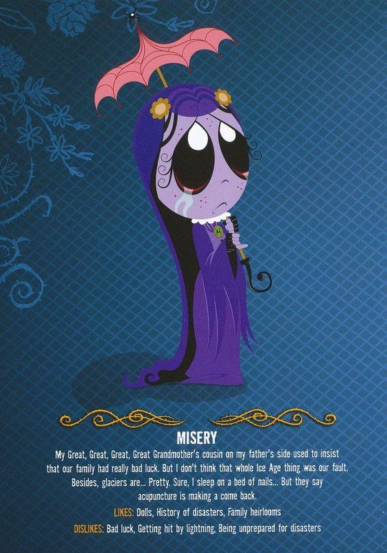 Misery - Ruby Gloom Inspiration for my next custom Blythe