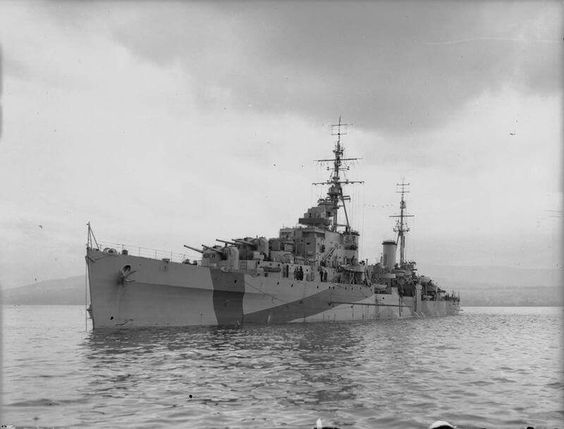 HMS BELLONA moored in British coastal waters. This ship was adopted by the people of Fife, Scotland, the county's plaque being handed over to the ship to commemorate the occasion. Royal Navy official photographer Beadell, S J (Lt) © IWM (A 19851)