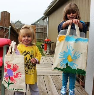 Handprint Flower Bags | We Made That