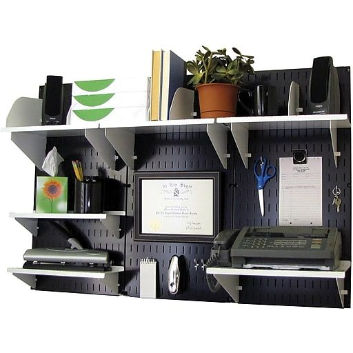 Wall Control Desk And Office Craft Center Organizer Kit Black