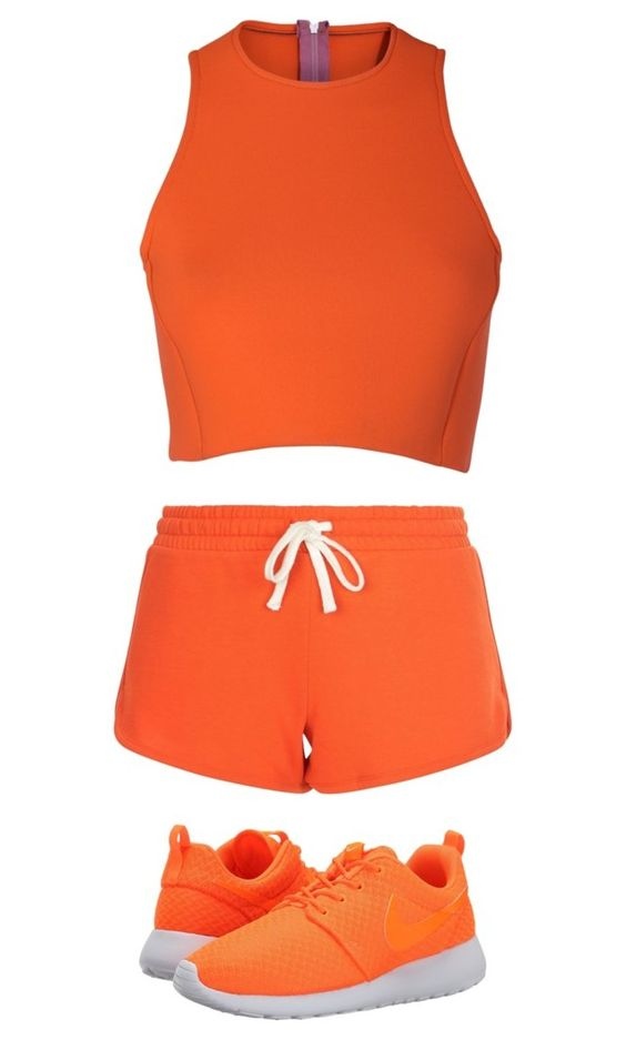 """""""orange"""" by izzybean100 ❤ liked on Polyvore featuring Sydney-Davies, New Look and NIKE"""