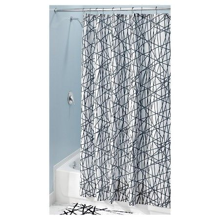 White Curtains black and white curtains target : Shower Curtain Interdesign Stripe Black White | Curtains, Target ...