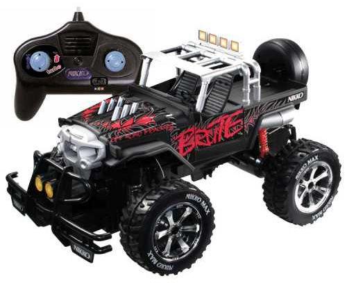 Nikko سيارة سباق مع ريموت كنترول 1 10 الجهاز يحتوي على عجلات كبيرة المصد والجسم قوي الحركة إلى الأمام الى الوراء يسار يمين Jeep Monster Trucks Nikko