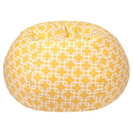 Gold Medal Gotcha Hatch Print Pattern Extra Large Bean Bag - Natural Yellow : Target