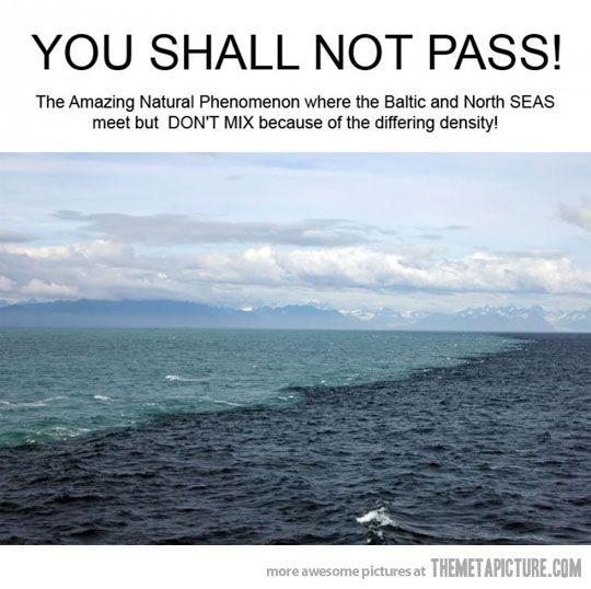 Where seas meet…