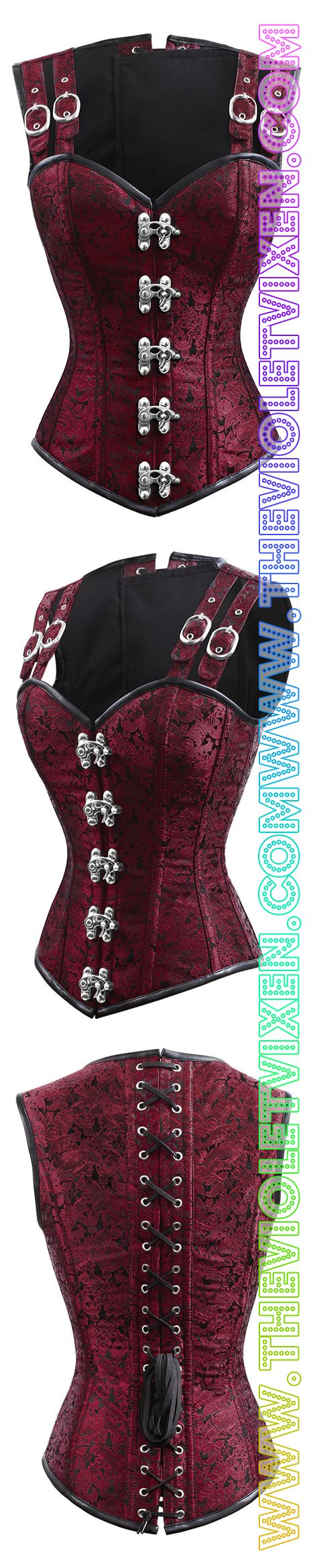 Love this corset!! Gorgeous red, overbust, authentic, great for slimming down our sexy Vixens. The Violet Vixen - Double-Barreled Tinker Seering Scarlet Corset, $140.00 (http://thevioletvixen.com/corsets/double-barreled-tinker-seering-scarlet-corset/)