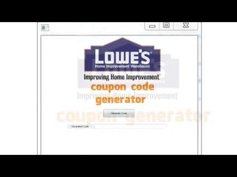Lowes coupon code generator 2018