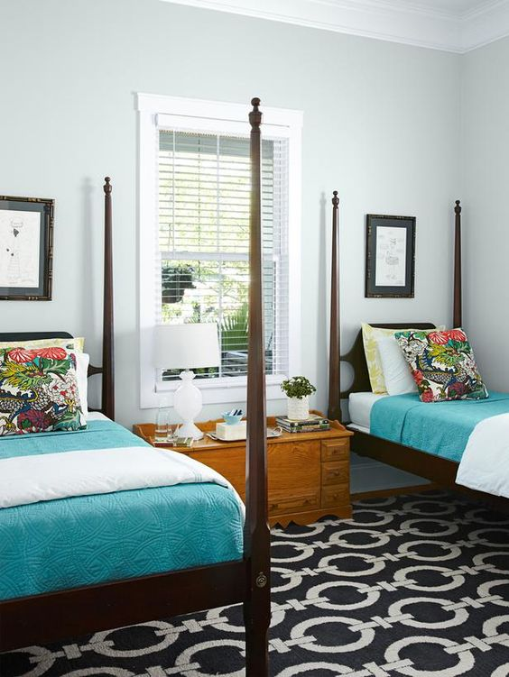 Guest Rooms Television And Twin Beds On Pinterest