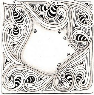 Using tangles to create a Zentangle frame by Michele Beauchamp, Certified Zentangle Teacher CZT