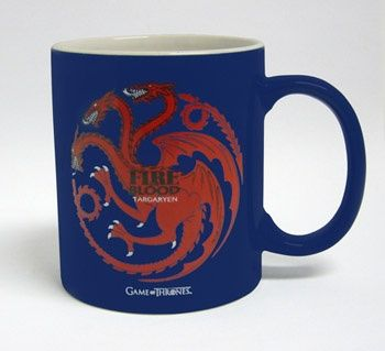 Taza Targaryen - Azul (Int:blanco) - #JuegoDeTronos #GameOfThrones