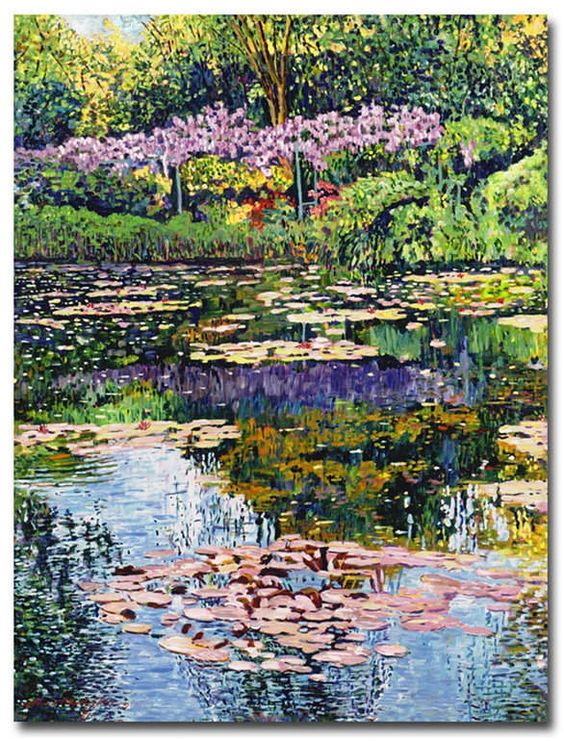 David Lloyd Glover 'Giverny Reflections' Canvas Art - 47  x 35