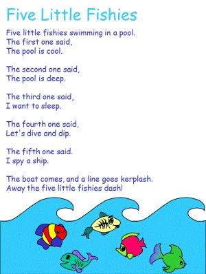 five little fish preschool songs pinterest fish