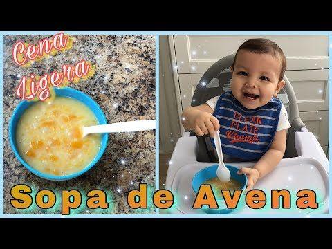Sopa De Avena Para Bebes De 6 Meses En Adelante Cena Ligera Para